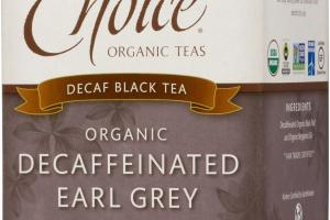 ORGANIC DECAFFEINATED EARL GREY BLACK TEA BAGS