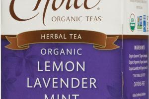 ORGANIC LEMON LAVENDER MINT HERBAL TEA BAGS