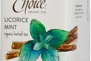 LICORICE MINT ORGANIC HERBAL TEA BAGS