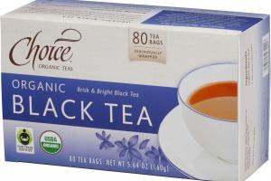 ORGANIC BRISK & BRIGHT BLACK TEA BAGS