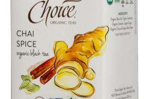 ORGANIC CHAI SPICE BLACK TEA BAGS