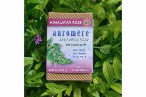 AYURVEDIC SOAP WITH NEEM, HIMALAYAN ROSE
