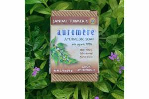 AYURVEDIC SOAP WITH NEEM, SANDAL-TURMERIC