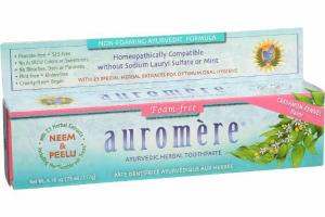 FOAM-FREE AYURVEDIC HERBAL TOOTHPASTE, CARDAMOM-FENNEL