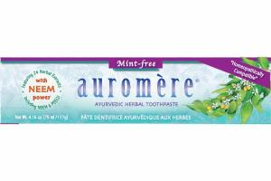 MINT-FREE AYURVEDIC HERBAL TOOTHPASTE