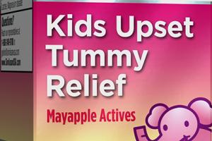KIDS UPSET TUMMY RELIEF MAYAPPLE ACTIVES ORIGINAL SWISS FORMULA DISSOLVABLE TABLETS