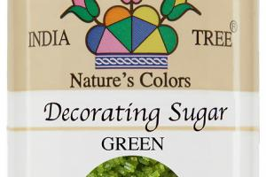 GREEN DECORATING SUGAR