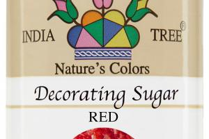 RED DECORATING SUGAR