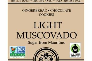 LIGHT MUSCOVADO GINGERBREAD CHOCOLATE COOKIES
