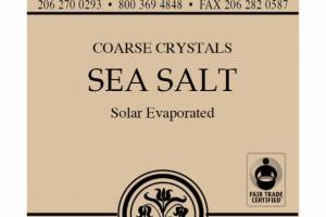 COARSE CRYSTALS SEA SALT