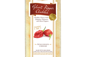 GHOST PEPPER CHEDDAR WITH JALAPENO, HABANERO AND GHOST PEPPERS WISCONSIN CHEESE