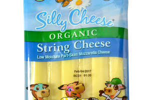 ORGANIC STRING CHEESE LOW MOISTURE PART-SKIM MOZZARELLA CHEESE