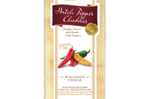 HATCH PEPPER CHEDDAR WITH HATCH CHILE PEPPERS WISCONSIN CHEESE