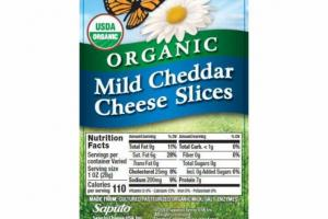 ORGANIC MILD CHEDDAR CHEESE SLICES