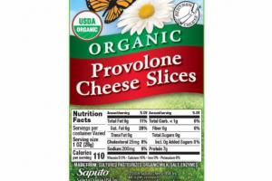 ORGANIC PROVOLONE CHEESE SLICES