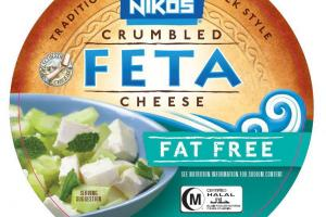 TRADITIONAL GREEK STYLE CRUMBLED FAT FREE FETA CHEESE