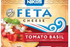 TRADITIONAL GREEK STYLE TOMATO BASIL FETA CHEESE