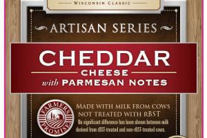 CHEDDAR CHEESE WITH PARMESAN NOTES