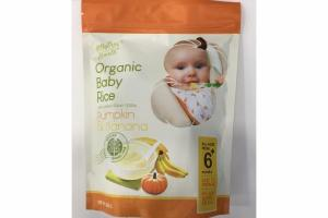 PUMPKIN & BANANA ORGANIC BABY RICE WITH WHOLE GRAIN CEREAL