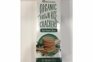 SOUR CREAM & CHIVES ORGANIC BROWN RICE CRACKERS