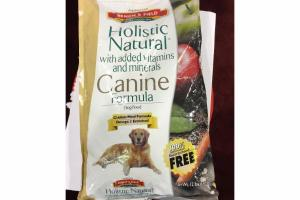 HOLISTIC NATURAL WITH ADDED VITAMINS AND MINERALS CANINE FORMULA DOG FOOD