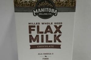 CHOCOLATE MILLED WHOLE SEED FLAX MILK