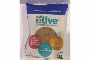COCONUT CASHEW LIVE PROBIOTIC NUTRITION BAR