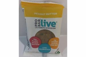 PEANUT BUTTER LIVE PROBIOTIC NUTRITION BAR
