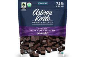 72% CACAO ORGANIC EXTRA DARK CHOCOLATE CHUNKS