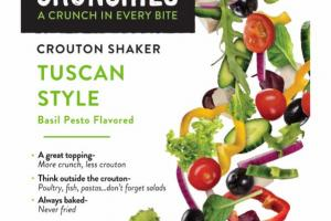 TUSCAN STYLE BASIL PESTO FLAVORED CROUTON SHAKER