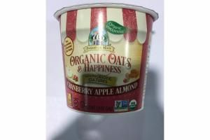 CRANBERRY APPLE ALMOND ORGANIC OATS & HAPPINESS