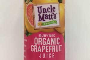 Ruby Red Organic Grapefruit Juice