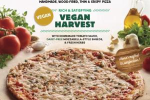 VEGAN HARVEST HANDMADE, WOOD-FIRED, THIN & CRISPY PIZZA