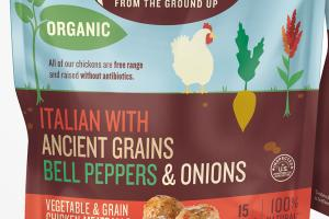 ITALIAN WITH ANCIENT GRAINS BELL PEPPERS & ONIONS VEGETABLE & GRAIN CHICKEN MEATBALLS