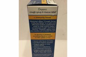 ORGANIC SYRUP & MUCUS RELIEF + IMMUNITY BOOST LIQUID DIETARY SUPPLEMENT