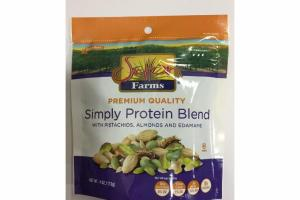 SIMPLY PROTEIN BLEND WITH PISTACHIOS, ALMONDS AND EDAMAME