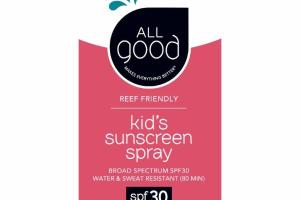 KID'S SUNSCREEN SPRAY BROAD SPECTRUM SPF30 WATER & SWEAT RESISTANT (80 MIN)
