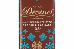 MILK CHOCOLATE WITH TOFFEE & SEA SALT