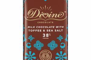 MILK CHOCOLATE WITH TOFFEE & SEA SALT