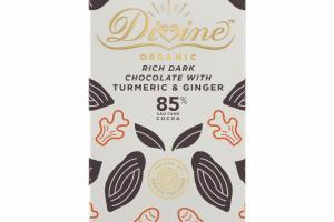ORGANIC RICH DARK CHOCOLATE WITH TURMERIC & GINGER