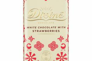 WHITE CHOCOLATE WITH STRAWBERRIES