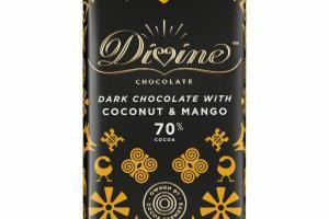 DARK CHOCOLATE WITH COCONUT & MANGO