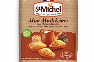 FRENCH SPONGE CAKES WITH CHOCOLATE CHIPS MINI MADELEINES