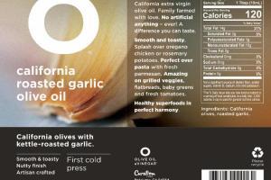 CALIFORNIA ROASTED GARLIC OLIVE OIL