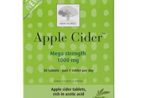 APPLE CIDER WITH ACETIC ACID MEGA STRENGTH 1000 MG DIETARY SUPPLEMENT TABLETS