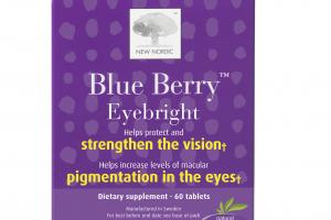 BLUE BERRY EYEBRIGHT HELPS SUPPORT AND MAINTAIN HEALTHY VISION DIETARY SUPPLEMENT TABLETS