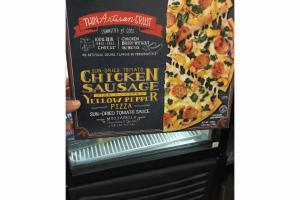 SUN-DRIED TOMATO CHICKEN SAUSAGE FIRE ROASTED YELLOW PEPPER PIZZA