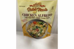 CHICKEN ALFREDO WITH GLUTEN FREE PENNE PASTA SKILLET MEALS