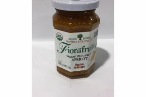 FIORDIFRUTTA APRICOT SWEETENED WITH APPLE JUICE ORGANIC FRUIT SPREAD