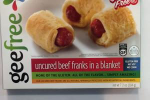 Uncured Beef Franks In A Blanket
